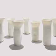 10 translucent vases