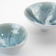 8. Matthew Booth- Interior view of fluxing glazes of two porcelain bowls