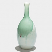 9. Sun Lee- Fluxing glazes on porcelain bottle