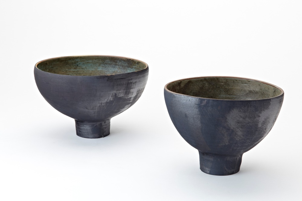 4. Matthew Booth- Two footed stoneware bowls