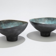 10. Sun Lee- Two altered and footed stoneware bowls