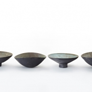 3. Matthew Booth- Four footed and/or altered stoneware bowls