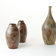 6. Matthew Booth- Stoneware bottle and two vases